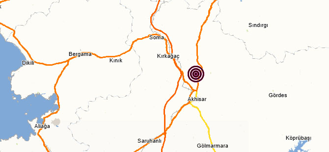 Akhisar merkezli 3.8 şiddetinde artçı deprem