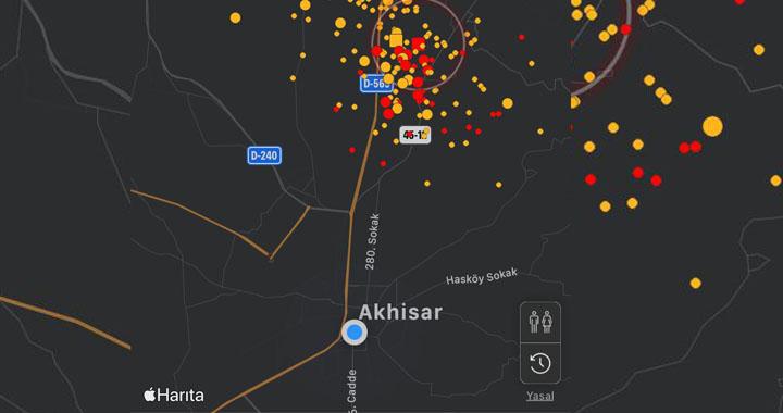 Akhisar'da dün gece art arda 5 artçı deprem