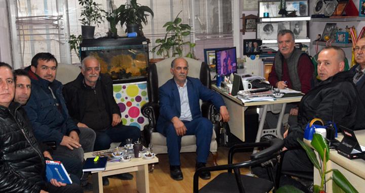 İYİ Parti İlçe başkan Adayı Sakallı, Akhisar Haber'i ziyaret etti