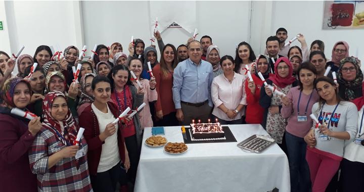 TYH tekstil gıdacılar şubesi İşkur 18. ve 19. grup mezunlarını verdi