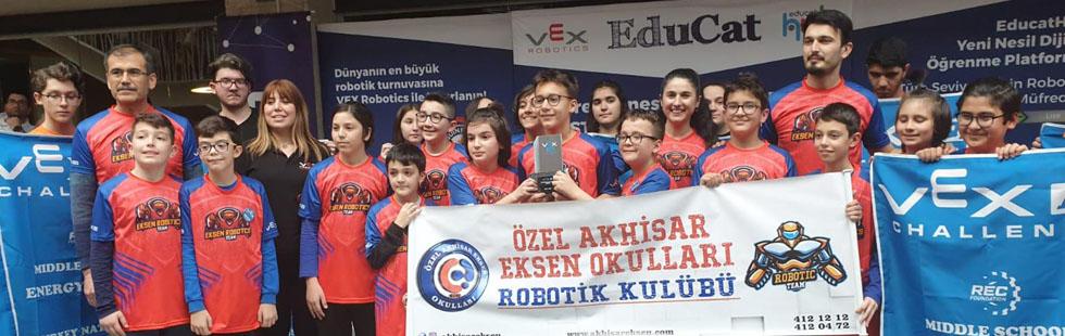 Eksen Okulları Robotik Takımı Amerika biletini aldı