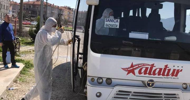 Atatur, tüm araçlarını dezenfekte ettirdi