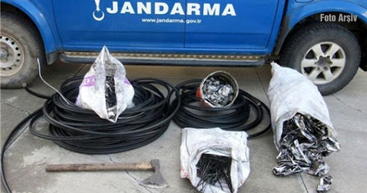 20 yaş altındaki kablo hırsızlarına 3 bin 150 TL ceza