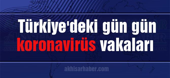 Türkiye'deki gün gün koronavirüs vakaları