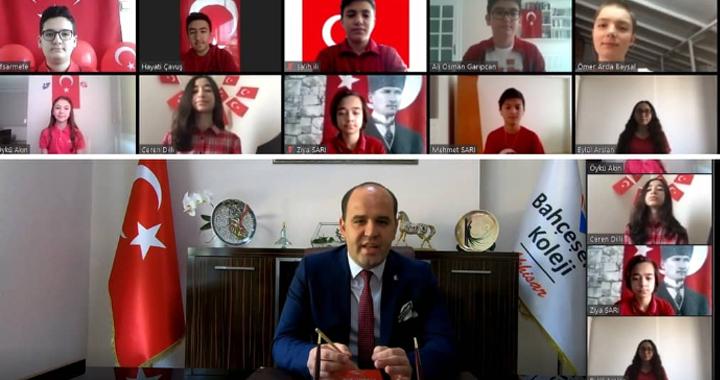 Bahçeşehir Koleji öğrencileri 23 Nisan'ı online program ile coşku içinde kutladı!