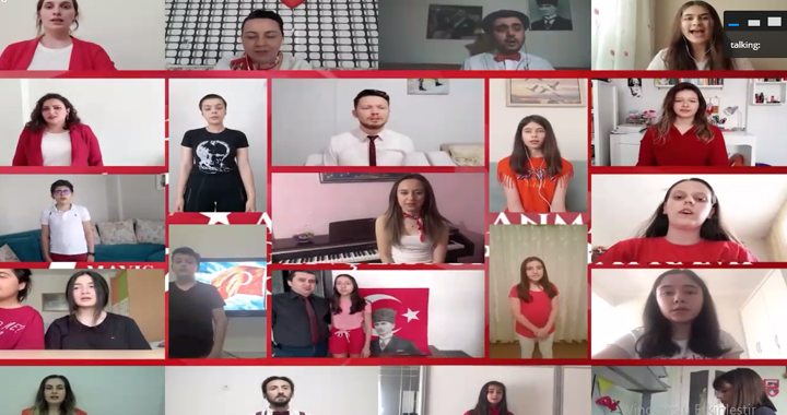 Bahçeşehir Koleji öğrencileri 19 Mayıs'ı online program ile coşku içinde kutladı!
