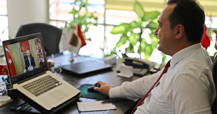 Dutlulu, Kılıçdaroğlu'nun online toplantısına katıldı