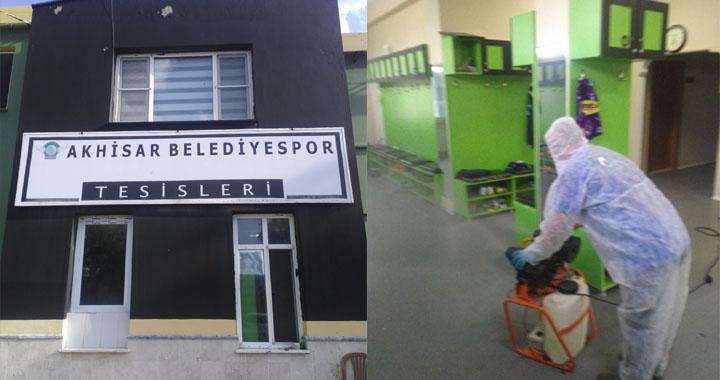 Akhisarspor tesisleri Nötr Dezenfekte şirketi tarafından dezenfekte edildi