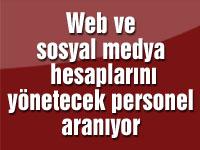 Web ve sosyal medya hesaplarını yönetecek bayan personel aranıyor