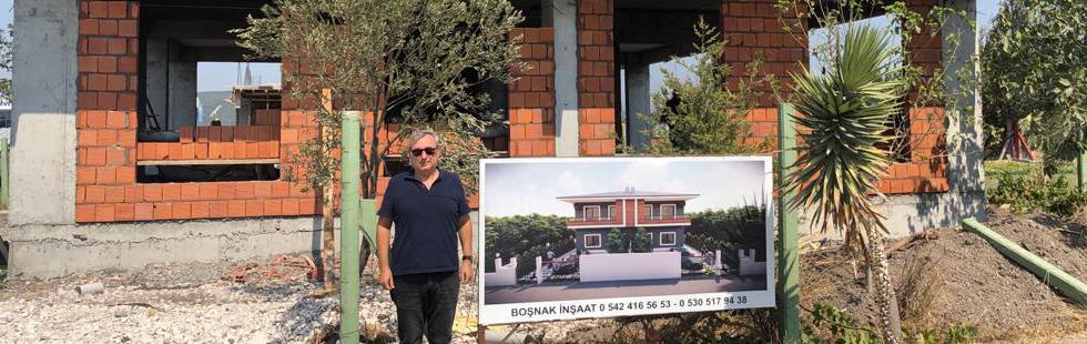 Boşnak İnşaat'tan bahçeli dubleks villa