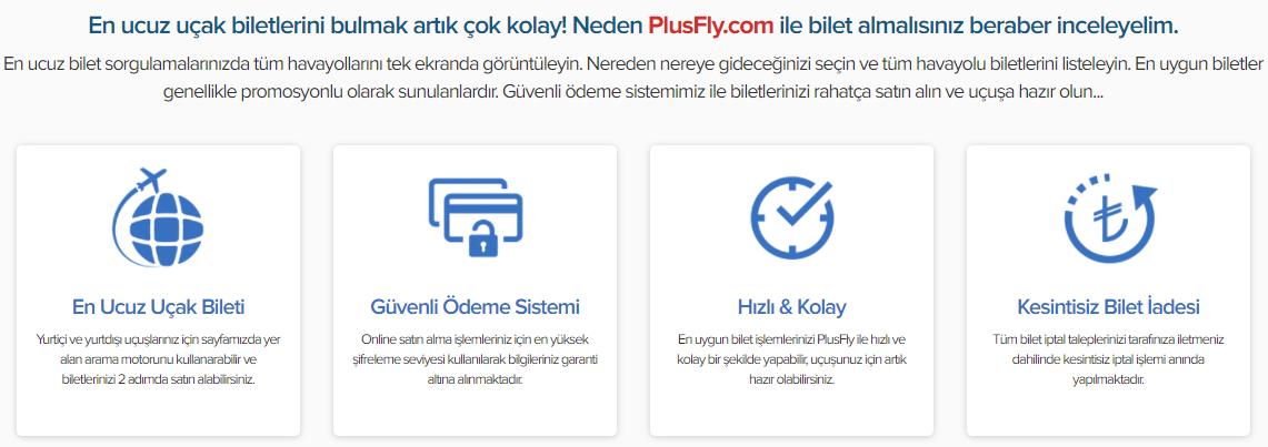 Plusfly İle Tüm Hava Yolları Bir Tık Uzağınızda