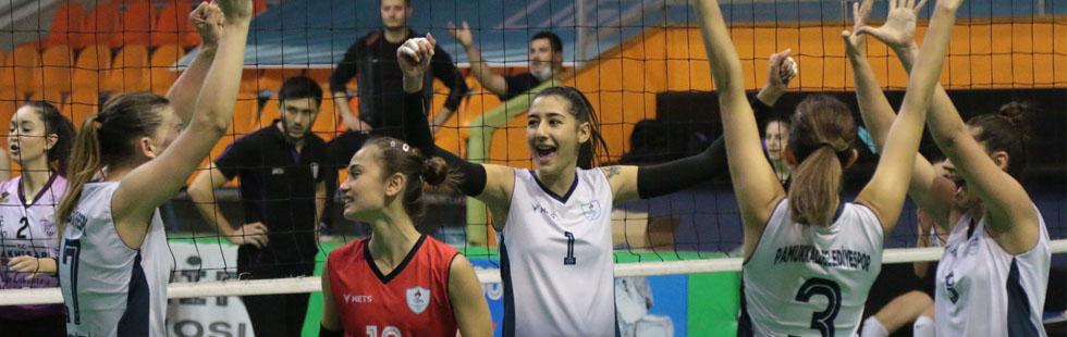 Kadın Voleybol Takımı, Pamukkale Belediye'ye 1-3 mağlup oldu