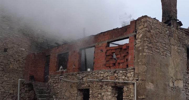 Dağdere'de çıkan yangında 1 kişi hayatında kaybetti