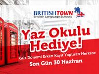 British Town'da Dil Sınıfı Öğrencilerine Yaz Kursu Hediye
