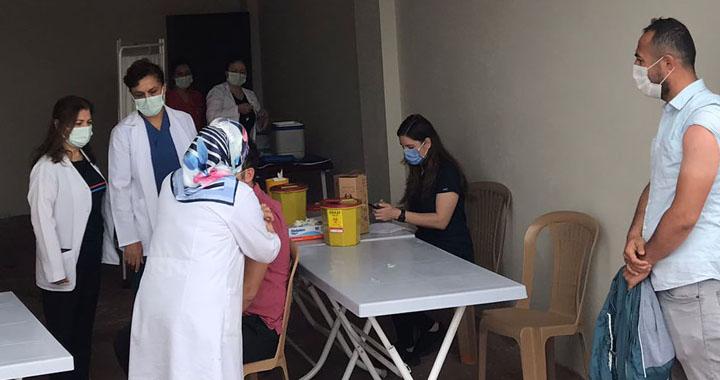 Akhisar OSB'de aşı uygulamasına başlandı