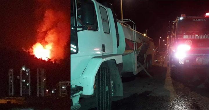 Akhisar ve Soma'daki yangınlar korkuttu