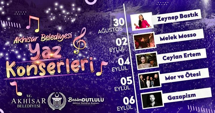 Akhisar'da kurtuluş günlerine özel 5 büyük konser