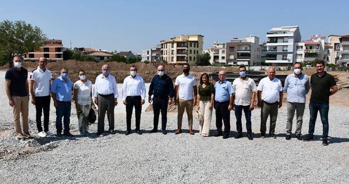 Aydemir, Hükümet Konağı inşaatını gezdi