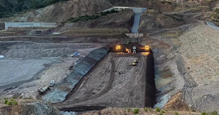 Gürdük Barajında gövde dolgusuna başlandı