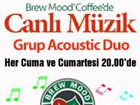 Brew Mood Coffee'de canlı müzik keyfi