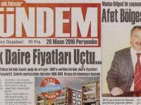 Akhisar Gündem Gazetesi 28 Nisan 2016