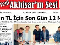 Yeni Akhisar'ın Sesi Gazetesi 30 Nisan 2016