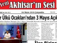 Yeni Akhisar'ın Sesi Gazetesi 4 Mayıs 2016