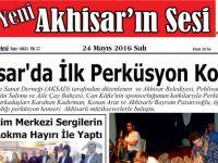 Yeni Akhisar'ın Sesi Gazetesi 24 Mayıs 2016