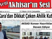 Yeni Akhisar'ın Sesi Gazetesi 25 Mayıs 2016