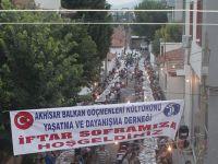 Balkan Göçmenleri Derneği'nin İftarına Yoğun Katılım Oldu
