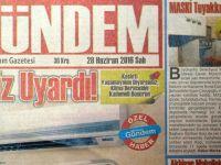 Akhisar Gündem Gazetesi 28 Haziran 2016