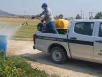 Akhisar'da Çöp Konteynırlarına İlaçlama