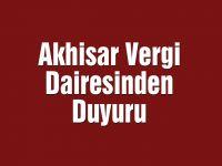 Akhisar Vergi dairesinden duyuru