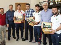 Belediye Başkanı Salih Hızlı, Dünya Şampiyonlarını ağırladı