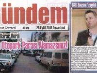 Akhisar Gündem Gazetesi 26 Eylül 2016