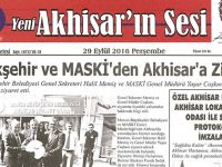 Yeni Akhisar'ın Sesi Gazetesi 29 Eylül 2016