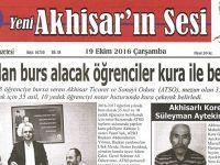 Yeni Akhisarın Sesi Gazetesi 19 Ekim 2016