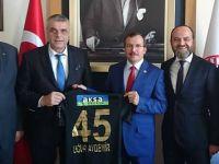 Akhisarspor yönetiminden KİT Komisyon Başkanı Aydemir'e ziyaret