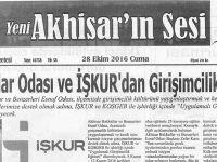 Yeni Akhisarın Sesi Gazetesi 28 Ekim 2016