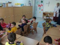 İlçe Milli Eğitim Şefkat Anaokulunu ziyaret etti