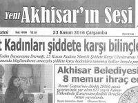 Yeni Akhisarın Sesi Gazetesi 23 Kasım 2016