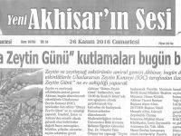 Yeni Akhisarın Sesi Gazetesi 26 Kasım 2016