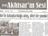 Yeni Akhisarın Sesi Gazetesi 29 Kasım 2016