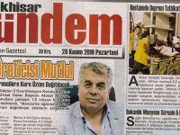 Akhisar Gündem Gazetesi 28 Kasım 2016