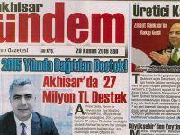 Akhisar Gündem Gazetesi 29 Kasım 2016