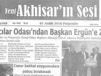 Yeni Akhisarın Sesi Gazetesi 1 Aralık 2016