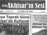 Yeni Akhisarın Sesi Gazetesi 9 Aralık 2016