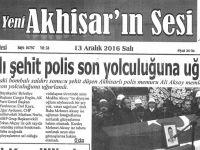 Yeni Akhisarın Sesi Gazetesi 13 Aralık 2016