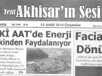 Yeni Akhisarın Sesi Gazetesi 14 Aralık 2016