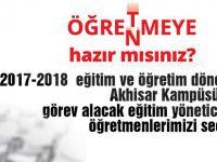 Bahçeşehir Koleji Akhisar Kampüsüne eğitim yöneticisi ve öğretmenler alınacaktır